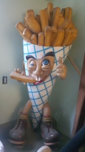 French Fries Character Statue