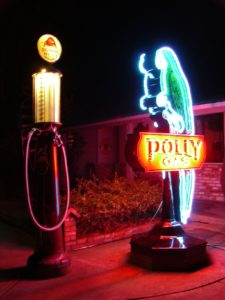 Polly Gas Neon Sign