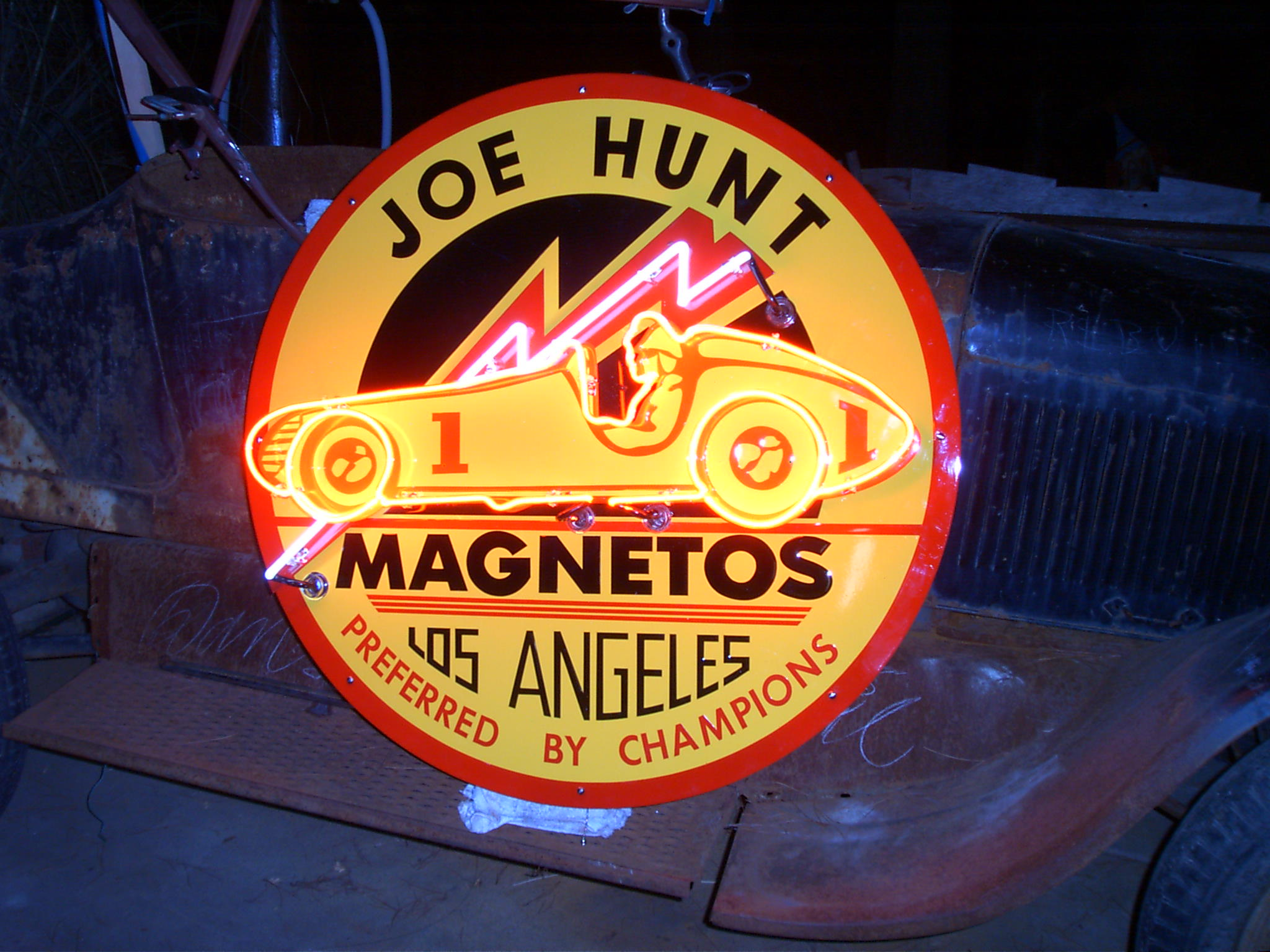 Joe Hunt Neon Sign