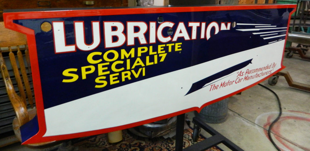 Mobil Lube Sign